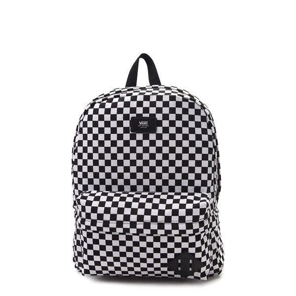 Main view of Vans Old Skool Checkerboard Backpack - Black / White