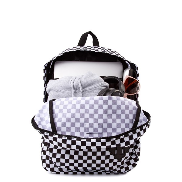 alternate image alternate view Vans Old Skool Checkerboard Backpack - Black / WhiteALT1