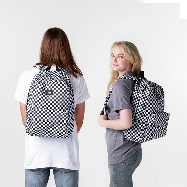 alternate image alternate view Vans Old Skool Checkerboard Backpack - Black / WhiteALT1BADULT