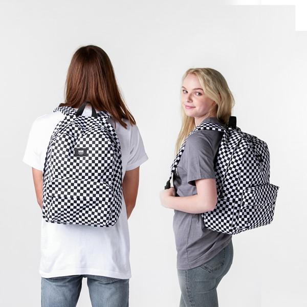 alternate image alternate view Vans Old Skool Checkerboard Backpack - Black / WhiteALT1BADULT