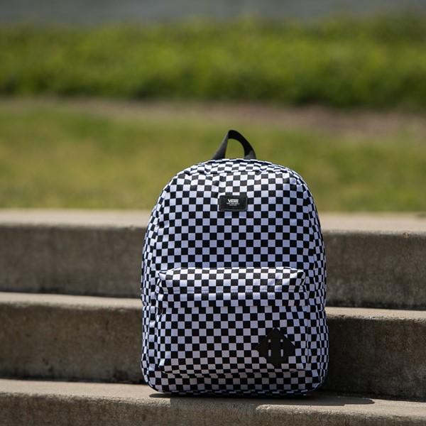 alternate image alternate view Vans Old Skool Checkerboard Backpack - Black / WhiteALT1BB