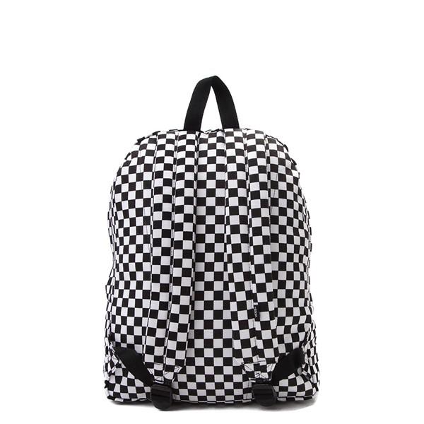 alternate image alternate view Vans Old Skool Checkerboard Backpack - Black / WhiteALT2