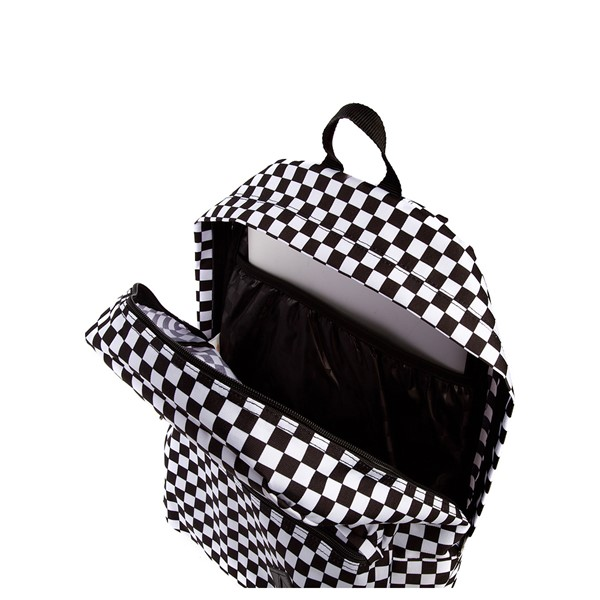 alternate image alternate view Vans Old Skool Checkerboard Backpack - Black / WhiteALT3