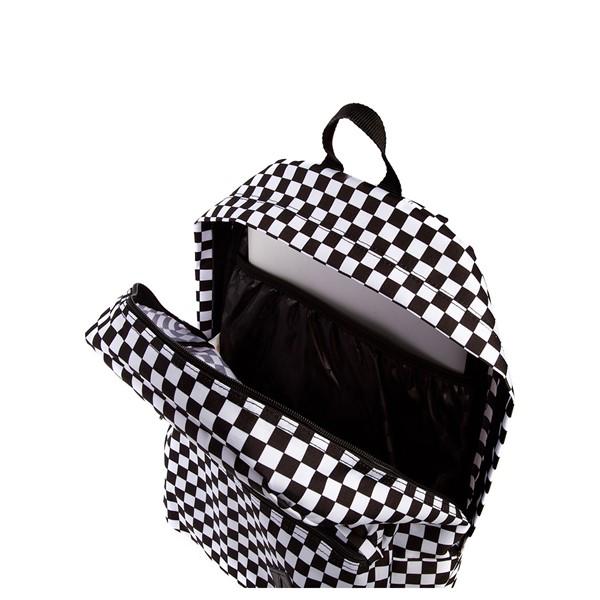 alternate image alternate view Vans Old Skool Checkerboard Backpack - Black / WhiteALT3