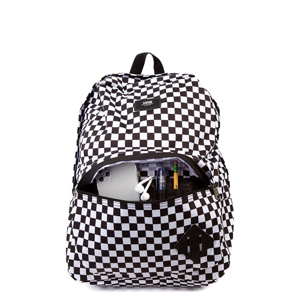 alternate image alternate view Vans Old Skool Checkerboard Backpack - Black / WhiteALT3B