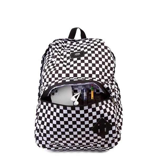 alternate image alternate view Vans Old Skool Checkerboard Backpack - Black / WhiteALT3B