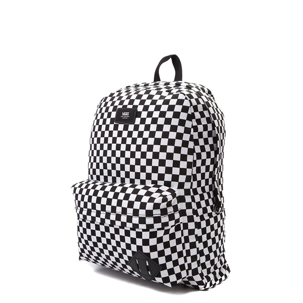 alternate image alternate view Vans Old Skool Checkerboard Backpack - Black / WhiteALT4