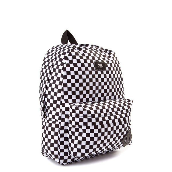 alternate image alternate view Vans Old Skool Checkerboard Backpack - Black / WhiteALT4B