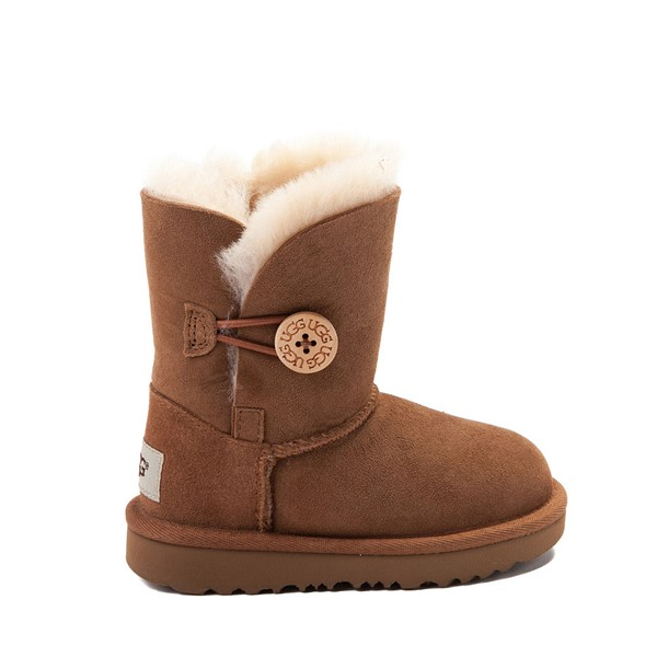 Main view of UGG® Bailey Button II Boot - Toddler / Little Kid - Chestnut