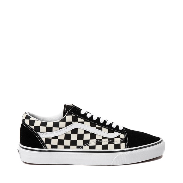Vans Old Skool Checkerboard Skate Shoe - Black / White