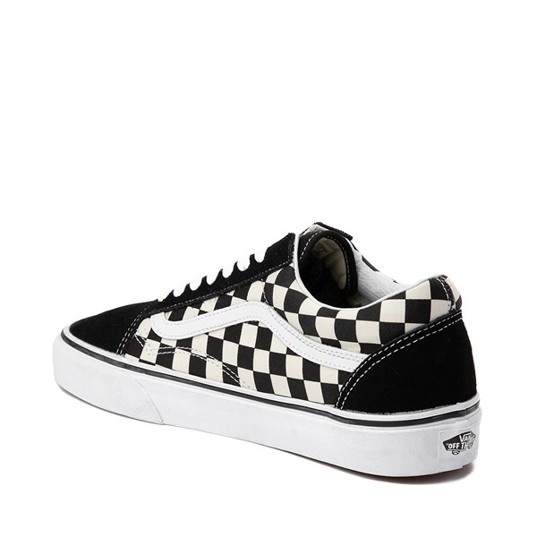 alternate image alternate view Vans Old Skool Checkerboard Skate Shoe - Black / WhiteALT1
