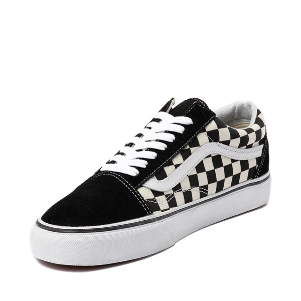 alternate image alternate view Vans Old Skool Checkerboard Skate Shoe - Black / WhiteALT2