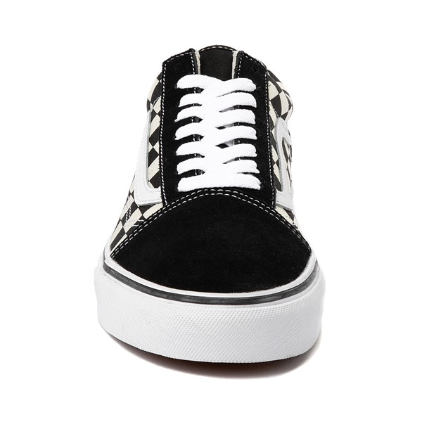 alternate image alternate view Vans Old Skool Checkerboard Skate Shoe - Black / WhiteALT4