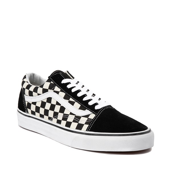 alternate image alternate view Vans Old Skool Checkerboard Skate Shoe - Black / WhiteALT5