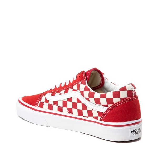 alternate image alternate view Vans Old Skool Checkerboard Skate Shoe - Red / WhiteALT1