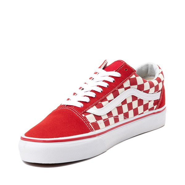 alternate image alternate view Vans Old Skool Checkerboard Skate Shoe - Red / WhiteALT2