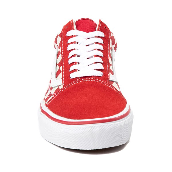 alternate image alternate view Vans Old Skool Checkerboard Skate Shoe - Red / WhiteALT4