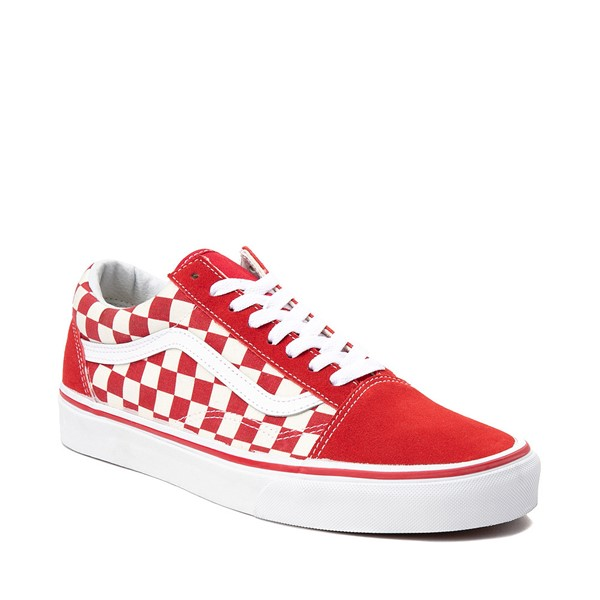 alternate image alternate view Vans Old Skool Checkerboard Skate Shoe - Red / WhiteALT5