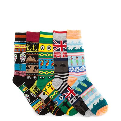 Main view of Worldly 5pk Crew Socks