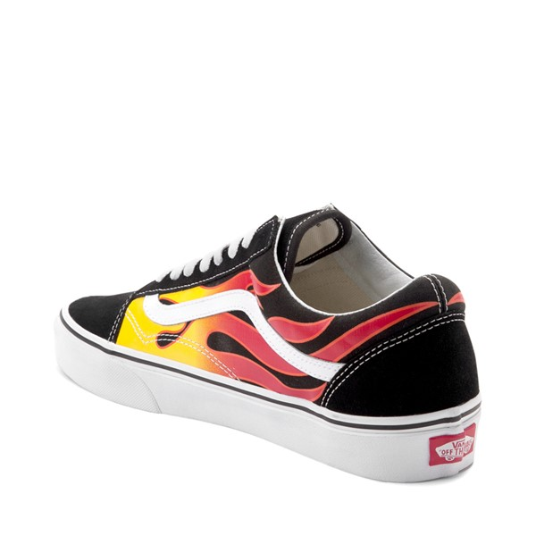 alternate image alternate view Vans Old Skool Flames Skate Shoe - BlackALT1