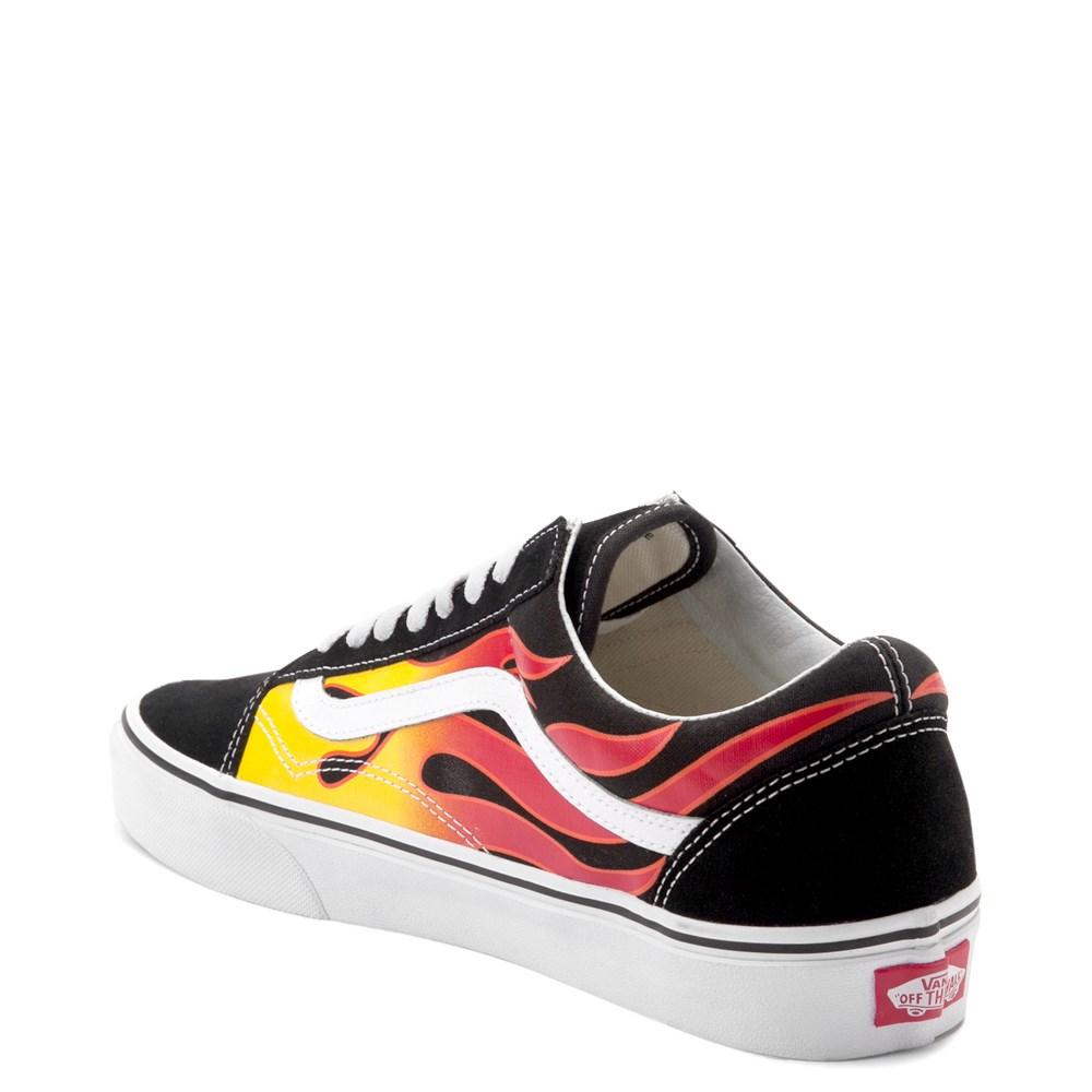 748d5e03040332 Vans Old Skool Flames Skate Shoe