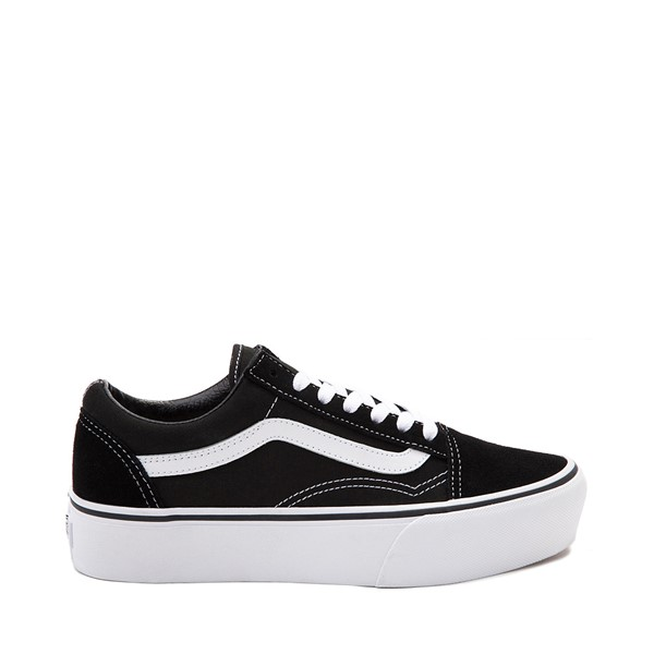 Main view of Vans Old Skool Platform Skate Shoe - Black / White