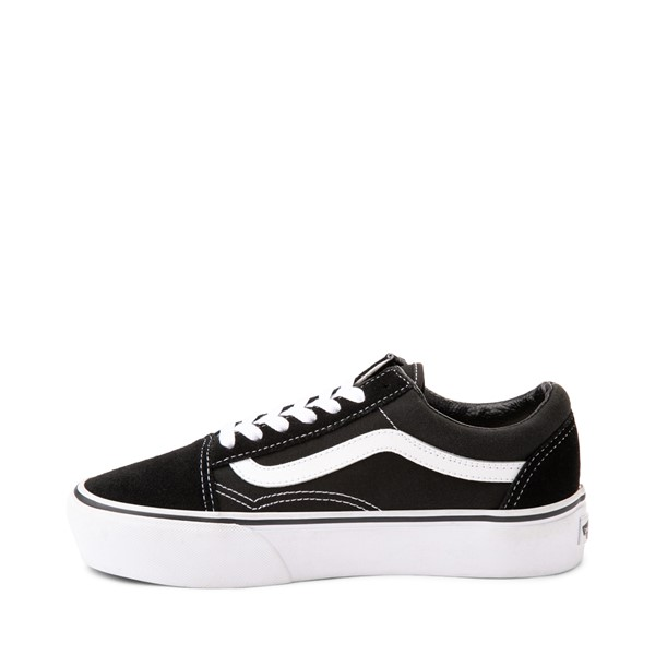 alternate image alternate view Vans Old Skool Platform Skate Shoe - Black / WhiteALT1