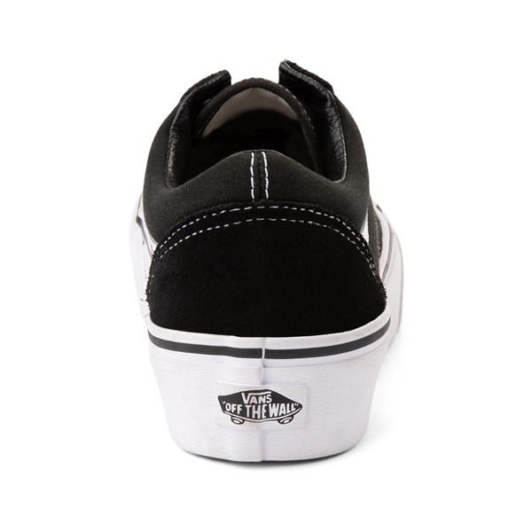alternate image alternate view Vans Old Skool Platform Skate Shoe - Black / WhiteALT4