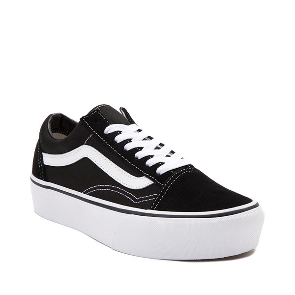 alternate image alternate view Vans Old Skool Platform Skate Shoe - Black / WhiteALT5