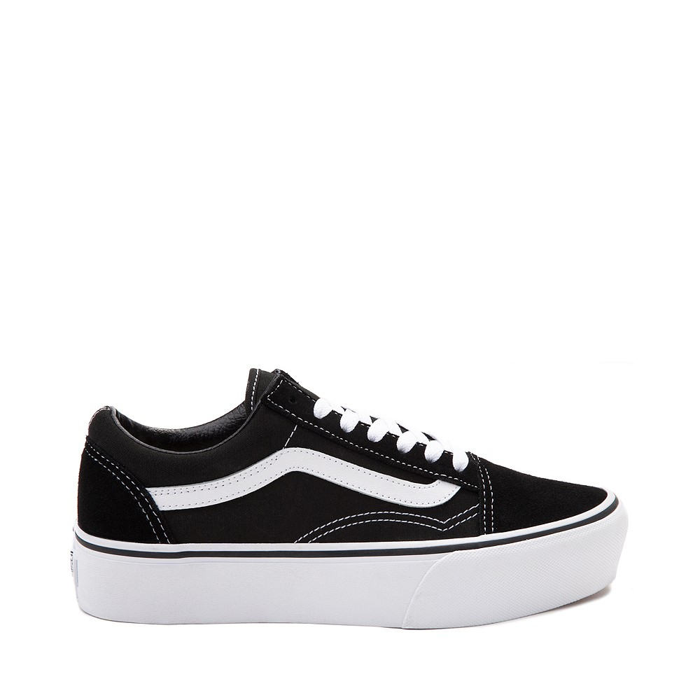 Vans Old Skool Platform Skate Shoe - Black / White