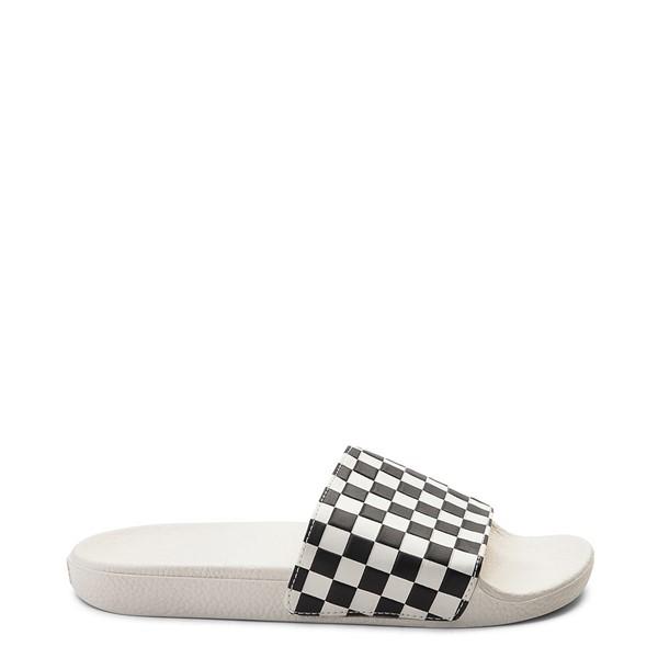 Womens Vans Slide On Checkerboard Sandal - White / Black