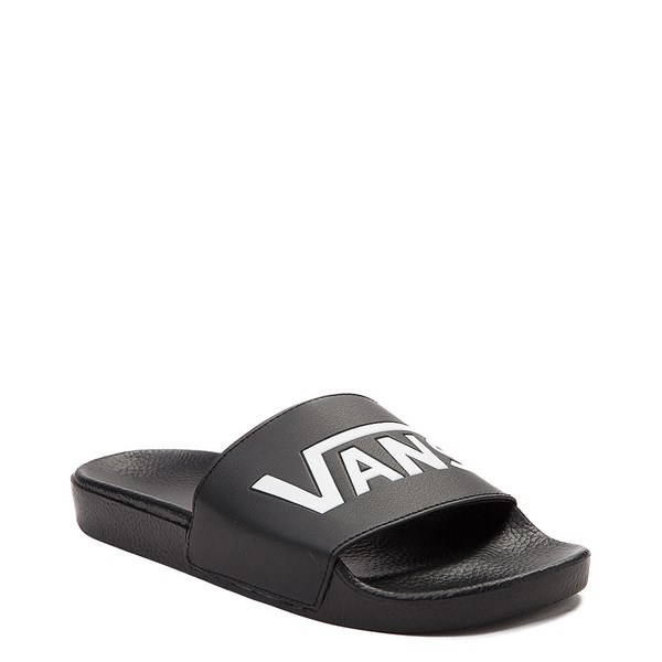 alternate image alternate view Vans Slide On Logo Sandal - Black / WhiteALT1