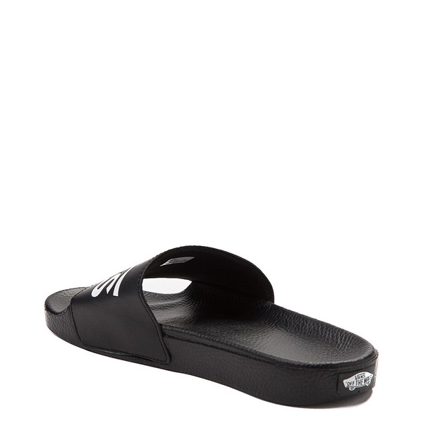 alternate image alternate view Vans Slide On Logo Sandal - Black / WhiteALT2