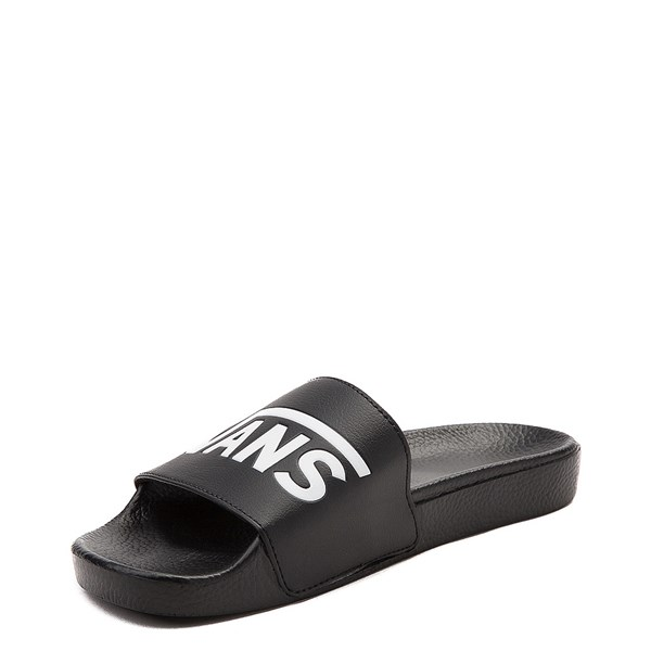 alternate image alternate view Vans Slide On Logo Sandal - Black / WhiteALT3