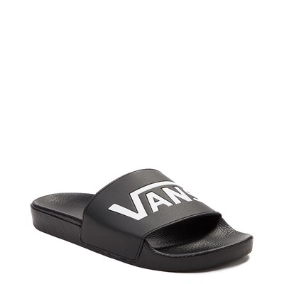 Alternate view of Vans Slide On Logo Sandal - Black / White