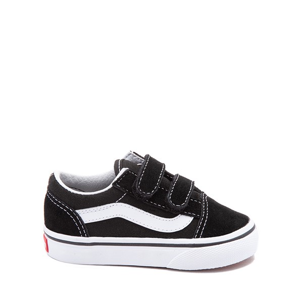 Main view of Vans Old Skool V Skate Shoe - Baby / Toddler - Black / White