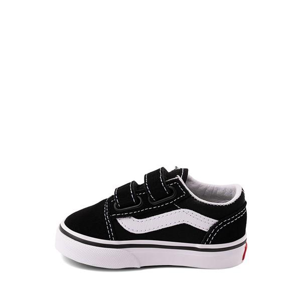 alternate image alternate view Vans Old Skool V Skate Shoe - Baby / Toddler - Black / WhiteALT1