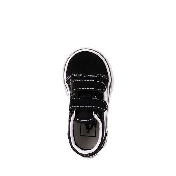 alternate image alternate view Vans Old Skool V Skate Shoe - Baby / Toddler - Black / WhiteALT2