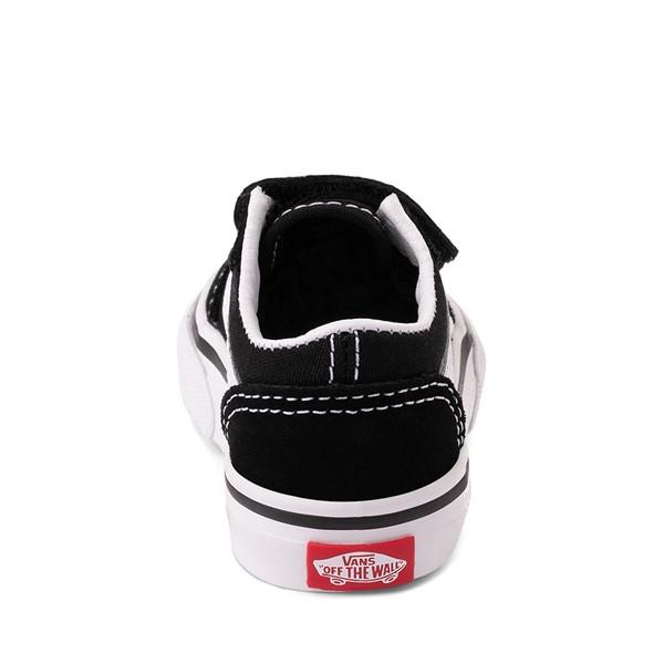 alternate image alternate view Vans Old Skool V Skate Shoe - Baby / Toddler - Black / WhiteALT4