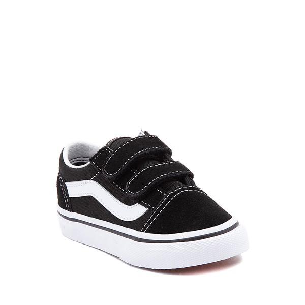 alternate image alternate view Vans Old Skool V Skate Shoe - Baby / Toddler - Black / WhiteALT5