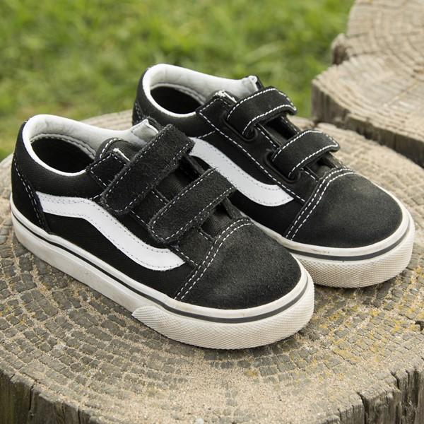 alternate image alternate view Vans Old Skool V Skate Shoe - Baby / Toddler - Black / WhiteALT7