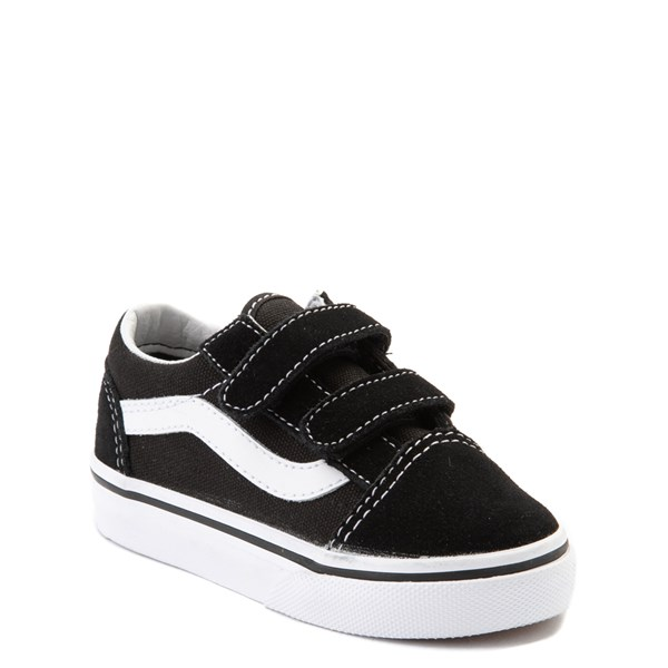 alternate image alternate view Vans Old Skool V Skate Shoe - Baby / Toddler - Black / WhiteALT1