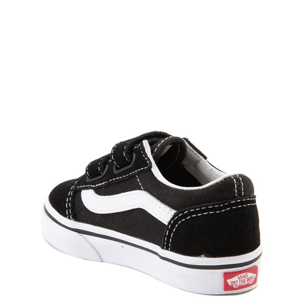 alternate image alternate view Vans Old Skool V Skate Shoe - Baby / Toddler - Black / WhiteALT2