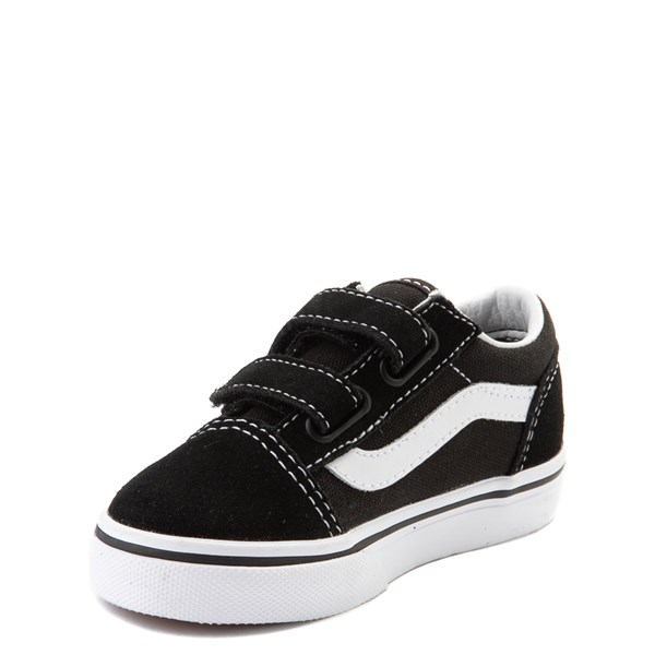 alternate image alternate view Vans Old Skool V Skate Shoe - Baby / Toddler - Black / WhiteALT3