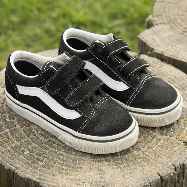 alternate image alternate view Vans Old Skool V Skate Shoe - Baby / Toddler - Black / WhiteALT7