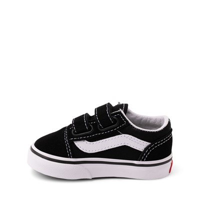 Alternate view of Vans Old Skool V Skate Shoe - Baby / Toddler - Black / White