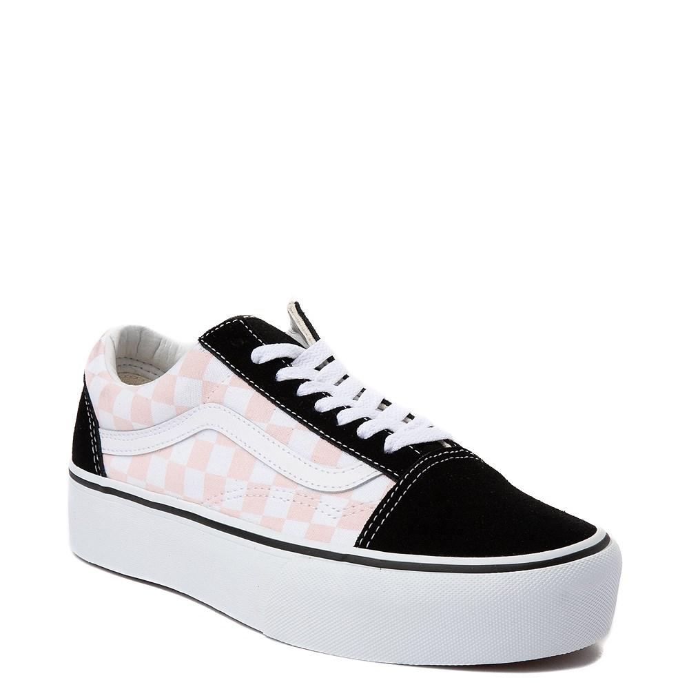 2f1eb2245b2ba8 Vans Old Skool Chex Platform Skate Shoe