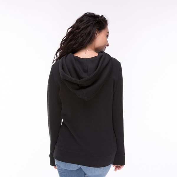 alternate image alternate view Womens adidas Trefoil Hoodie - BlackALT1