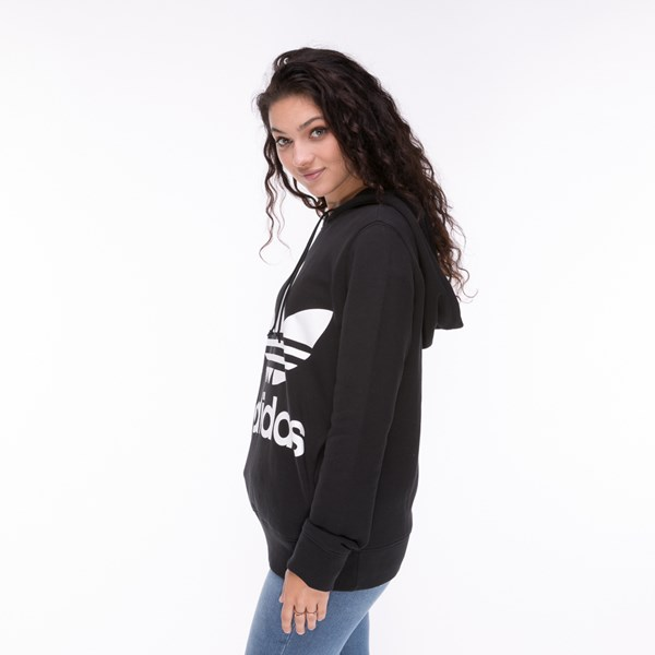 alternate image alternate view Womens adidas Trefoil Hoodie - BlackALT2