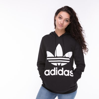 Main view of Womens adidas Trefoil Hoodie - Black